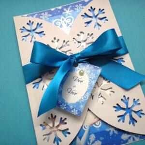 Convite Frozen com Envelope Rendado