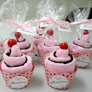 cupcake toalha rosa
