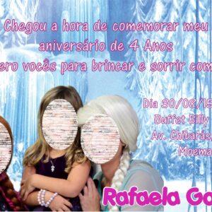 Convite virtual Frozen foto1 Convite virtual,NÃO É IMPRESSO. Convite enviado por e-mail em alta resolução formato JPG e PDF. Pronto para você imprimir ou enviar para seus convidados (whatsapp, facebook, e-mail)