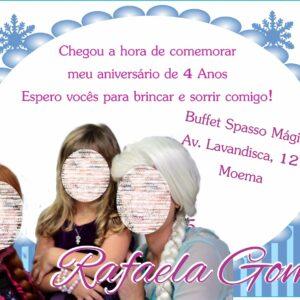 Convite virtual Frozen Foto 2