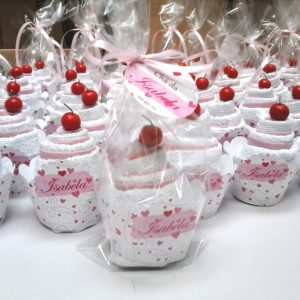 cupcake toalha branco