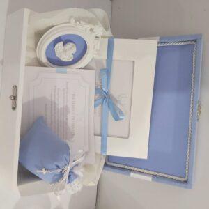 caixa padrinhos de batismo slim azul claro
