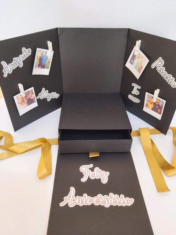 caixa surpresa para bolo com fotos