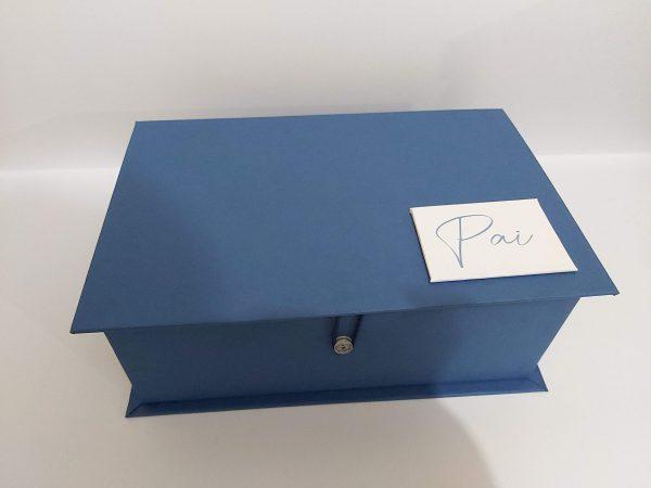 caixa para mini vinho e taça dia dos pais